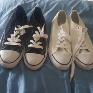 2 pair womans sneakers size 8
